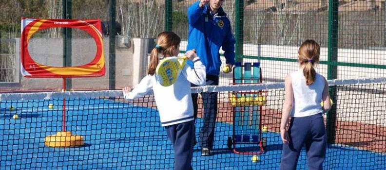 Padel Lessons for students in Rockbrook Padel Club